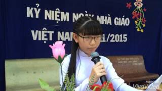 Phát biểu cảm nghĩ  học sinh Ngày Nhà Giáo Việt Nam 20/11/2015
