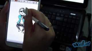 How to draw PSY (Gangnam Style) on Samsung Galaxy Note II