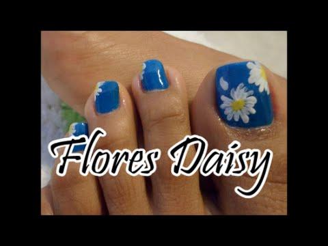 Paso A Paso Flores Daisy Para Las Unas De Los Pies Toe Nail Art