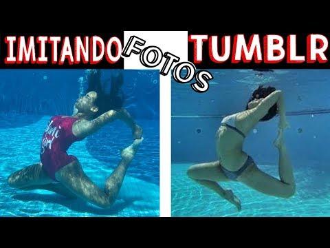 IMITANDO FOTOS TUMBLR NA PISCINA 4 - Muita Diversão