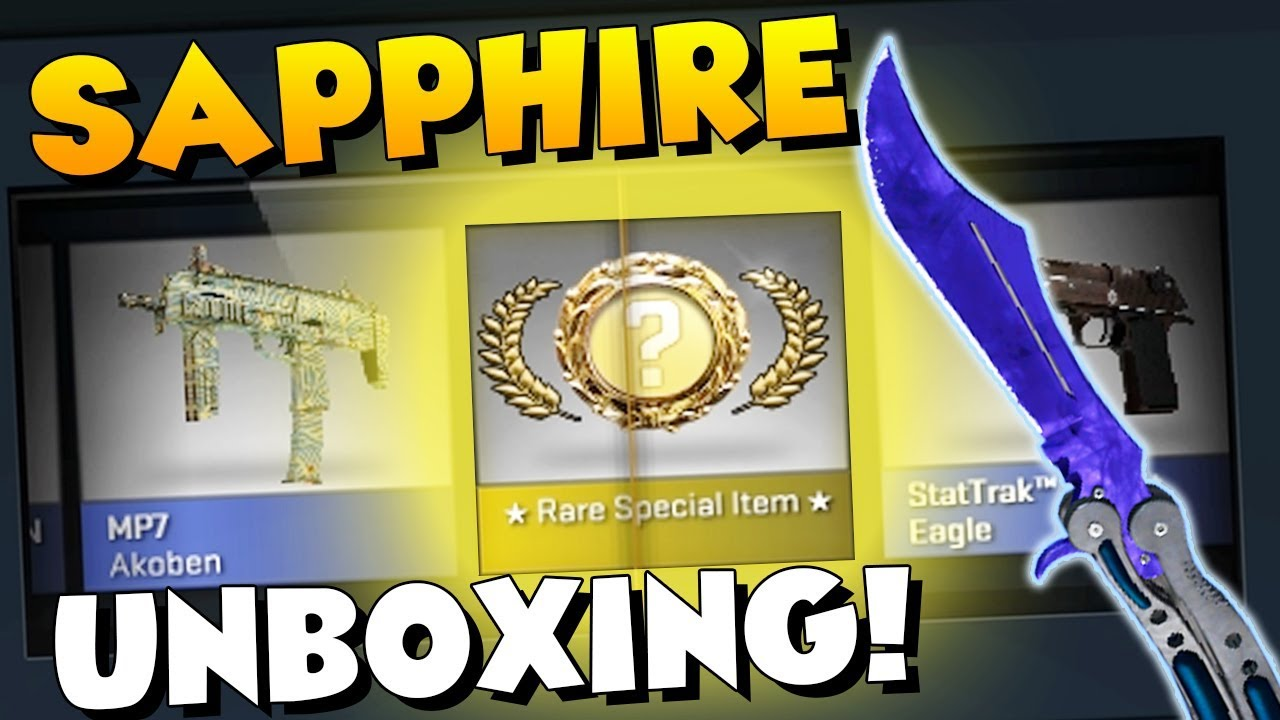 Download CS:GO - BUTTERFLY KNIFE SAPPHIRE UNBOXING! (MY BEST KNIFE EVER)