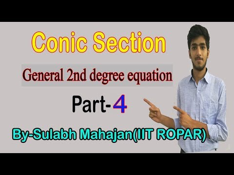"""CONIC SECTION 