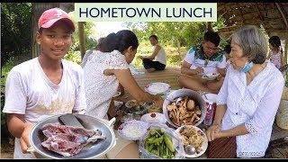 Lunch Break at Hometown in Kampong Speu