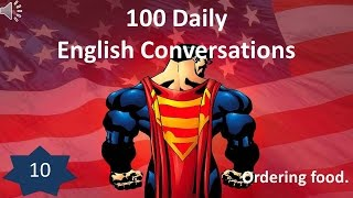 Daily English Conversation 10: Ordering food.