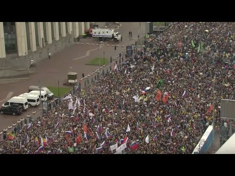 Митинг в Москве: «ОТПУСКАЙ!».Проспект Сахарова / LIVE 29.09.19