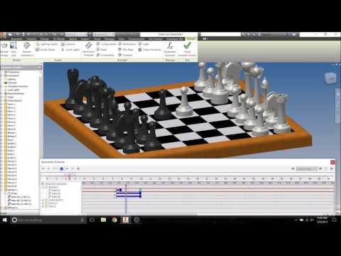 Autodesk Inventor Tutorial - Chess Match Animation in Inventor Studio