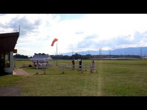 """Robin 3000 landing at LSGP (Aérodrome """"La Côte"""")"""