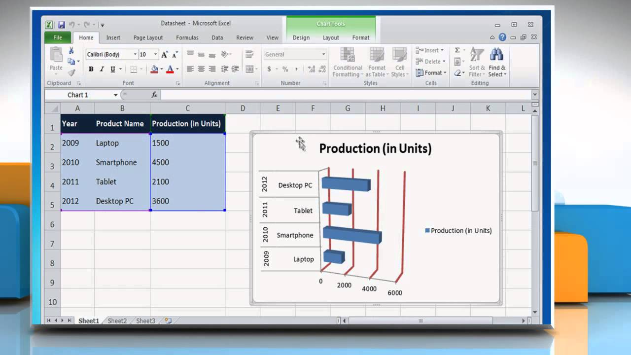 How to Data Labels in a Bar Graph in Excel 2010 - YouTube