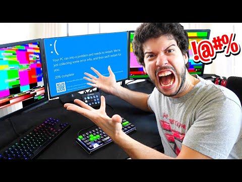 I BROKE Typical Gamer's Gaming PC! (PRANK)