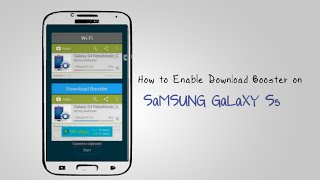 GALAXY S5 - How to Enable Download Booster on Samsung Galaxy S5