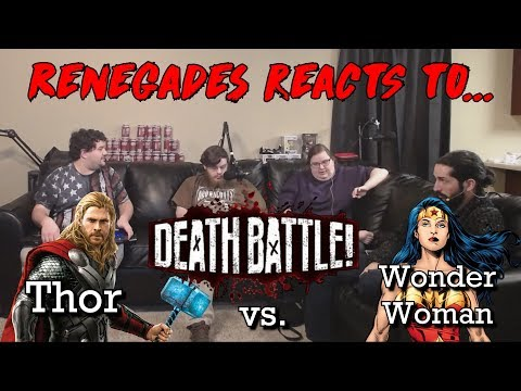 Renegades React to... Death Battle - Thor vs. Wonder Woman