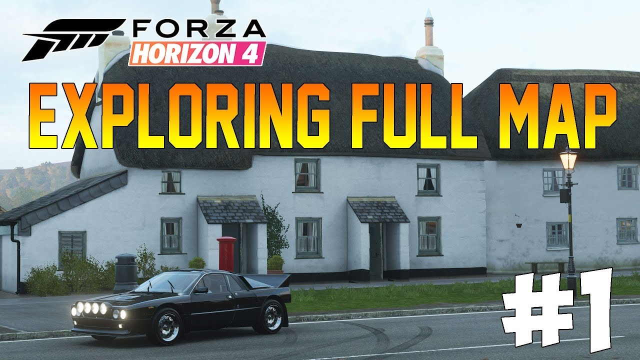 Forza Horizon 4 - FULL GAME #1 - Exploring The Map! Airport, Motorway & More