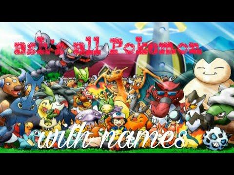 Pokemon Ash's Pokemon With Names