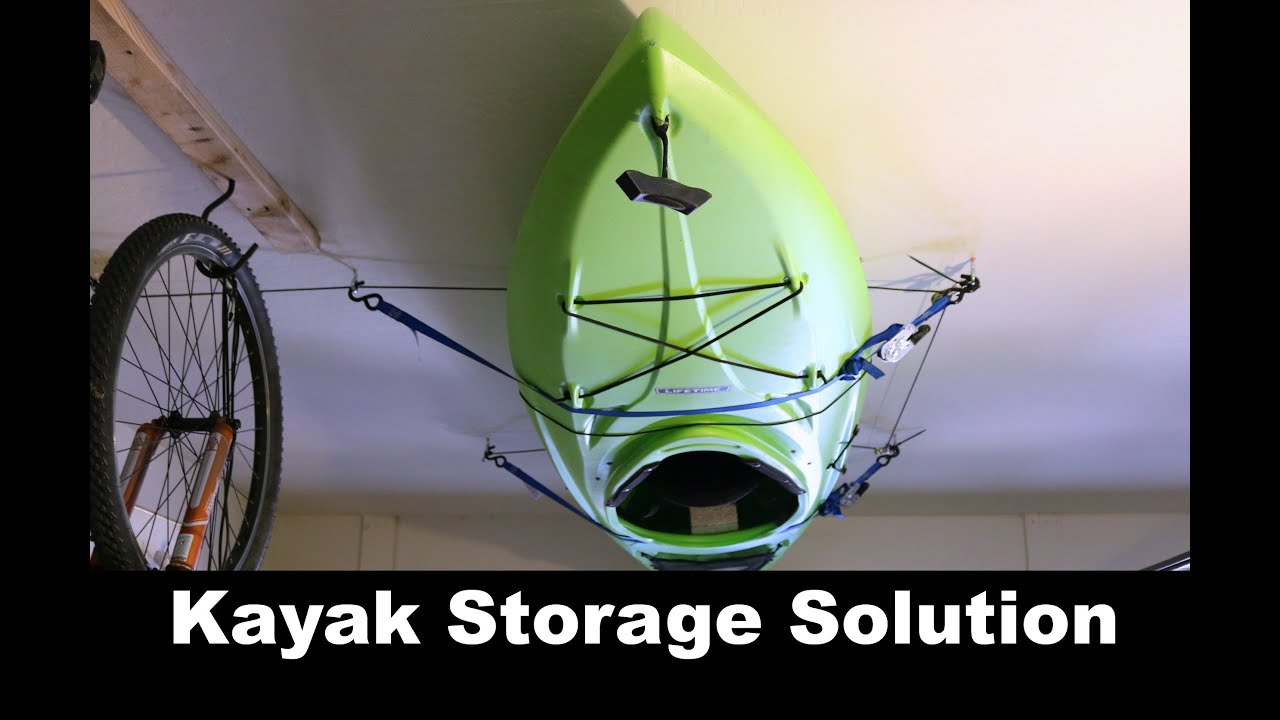 Diy Kayak Storage Solution Pulley System Youtube
