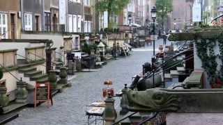 Ulica Mariacka. Мариацка улица в Гданьске, где продают украшения из янтаря