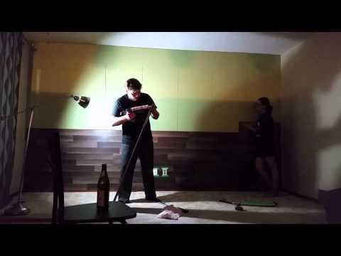 Как мы ламинат на стену клеили | Tatiana & Vladimir