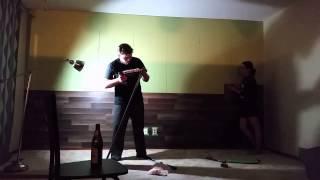 Как мы ламинат на стену клеили | Tatiana & Vladimir(Первый проект в нашем новом доме - ламинат на стене в гостиной. Спасибо за просмотр! Читайте подробности..., 2015-09-15T03:14:55.000Z)
