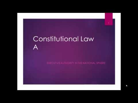 Executive in National Sphere Constitutional Law South Africa