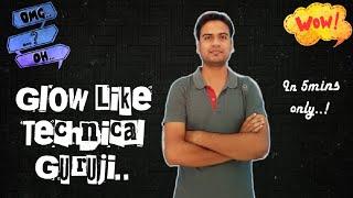 Glow Like 'Technical Guruji' - Create glowing layer of any photo..