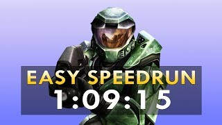 [WR] Halo: Combat Evolved in 1:09:15 -- Easy Speedrun