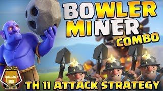 Clash of Clans : Th11 mass bowler 3star war attack strategy 2017 in hindi/urdu