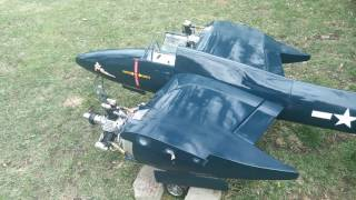 Don smith f7f tigercat with two saito 450 r3