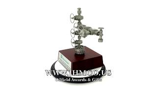 Oilfield Oil And Gas Wellhead Gift JHM#323 Award Plaque