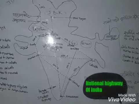 Indian National Highways Briefly Indian Highway NH-1,NH-2,NH-3,NH-4,NH-5,NH-6,NH-7,NH-8,NH-44,NH-47