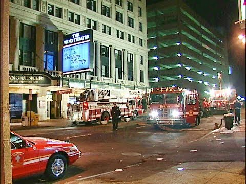 Tremont St. Boston (Wang Ctr.) fire