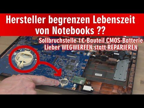 Hersteller begrenzen Lebensdauer von Notebooks ❓ versteckter Einbau von Batterien 🤔