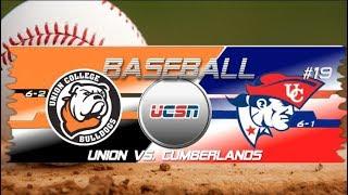 University of the Cumberlands - Baseball vs. Union College 2019