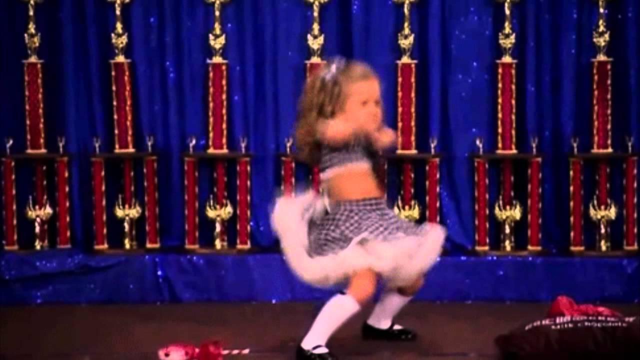 Happy obese girl dancing