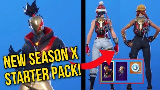 *NEW* FORTNITE SEASON X RED STRIKE STARTER PACK! BLADED BAG BACKBLING SHOWCASED ON ALL MY SKINS!