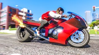 The FASTEST MOTORBIKE EVER! - (GTA 5 Stunts & Fails)