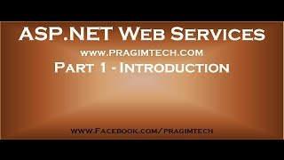 Part 1   Introduction to asp net web services
