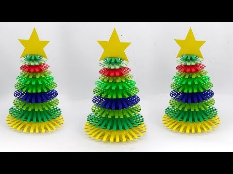 Beautiful Paper Christmas Tree | Christmas Decoration Ideas With Paper Wreath | Christmas Ornaments