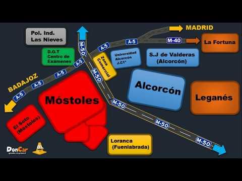 mapa-y-rutas-habituales-en-los-exámenes-prácticos-en-madrid