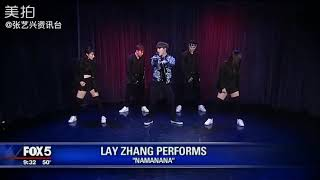181105 Lay Zhang Yixing - NAMANANA live @ fox5NY Gdny