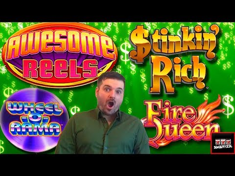FREE PLAY FRIDAY! Starring Stinkin' Rich 💰 Wheel O Rama 💰 Fire Queen 💰 Lone Wolf