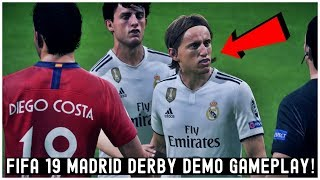 FIFA 19 Indonesia Demo Gameplay: Real Madrid vs Atlético Madrid (Full Match Derby Madrid)
