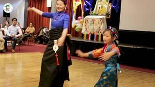 Phakdon & her daughter, Pema Dolker dacing - Dalai Lama