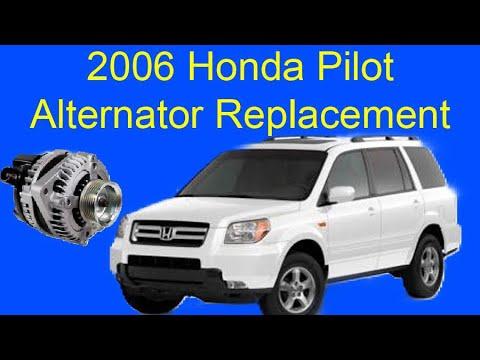 2006 Honda Pilot Alternator Replacement Youtube