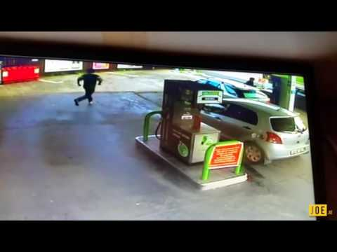 Petrol station fire in Leitrim