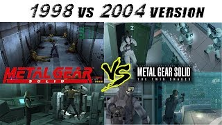 Metal Gear Solid vs Metal Gear Solid The Twin Snakes Gameplay ( PS1 vs Gamecube ) HD
