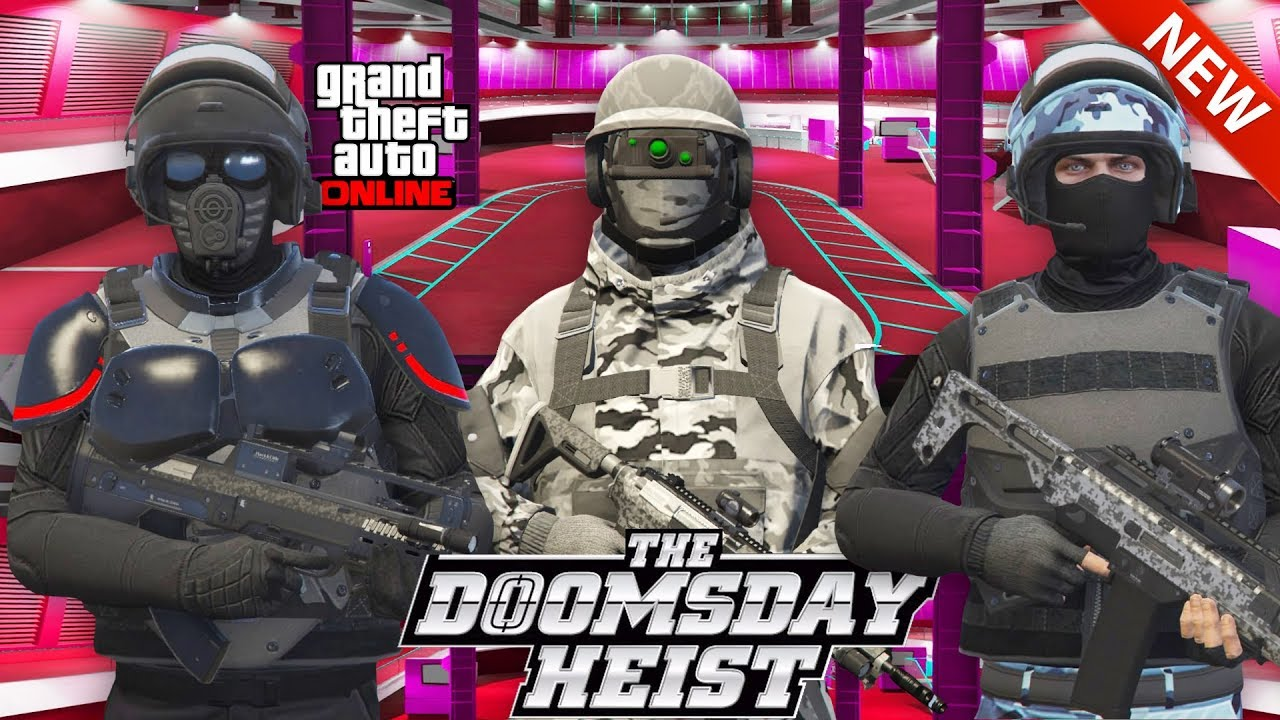 GTA Online DOPE MILITARY OUTFITS (The DOOMSDAY Heist Outfits) - YouTube