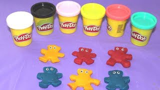 Learn Colors with Play Doh Ginger man Biscuit make Spaghetti Play doh for kids toddlers preschoolers