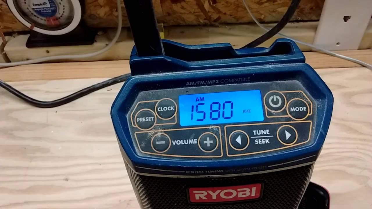 Ryobi 18-Volt ONE+ Compact Radio with Bluetooth Wireless ... |Ryobi Work Radio