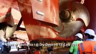 Spirit of Tasmania at dry dock Sydney