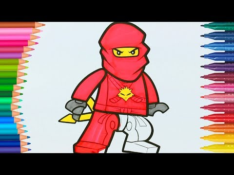 Lego Ninjago Malbuch Der Lego Ninjago Film Kai Ausmalbilder