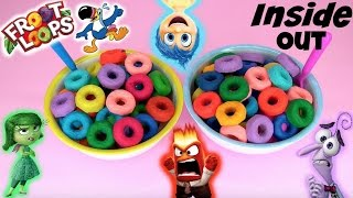 Disney INSIDE OUT Surprise Toys in Froot Loops CEREAL made of PLAY DOH